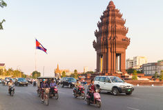 Phnom Penh traffic Stock Image