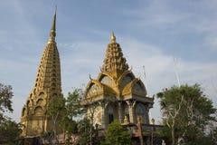 Phnom Sampeau Temple. Battambang, Cambodia. Golden pagodas of Phnom Temple Sampeau. Battambang, Cambodia Royalty Free Stock Photos