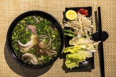 Free Pho, A Popular Vietnamese Beef Noodle Soup Stock Image - 181840651