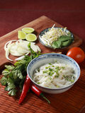 Pho Bo. Pho (Vietnamese: Phở) (pronounced [fɤ˧˩˧] ( listen)) is a Vietnamese noodle soup, usually served with beef (Vietnamese: phở bò) or chicken ( Royalty Free Stock Image