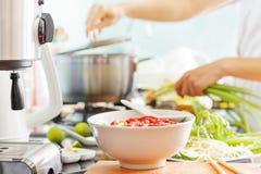 Pho BO De traditionele Vietnamese soep van de rundvleesnoedel stock afbeelding