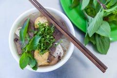 Pho, de beroemde soep van de vietnamsenoedel royalty-vrije stock foto's