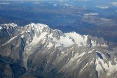 Pho di vista aerea delle montagne delle alpi della cima della montagna di Montblanc Mont Blanc Immagine Stock Libera da Diritti