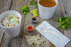 Pho Fast Food To Go Royalty Free Stock Image
