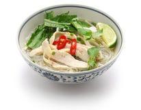 Pho ga, въетнамский суп лапши риса цыпленка Стоковые Изображения RF