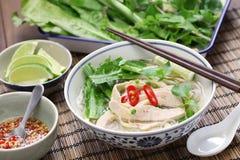 Pho ga, въетнамский суп лапши риса цыпленка стоковая фотография
