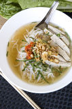 Pho noodle in white bowl Royalty Free Stock Images