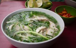 Pho - rice noodle chicken soup royalty free stock image