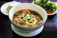 Pho Ryżowego kluski Wietnamska polewka. Obraz Stock