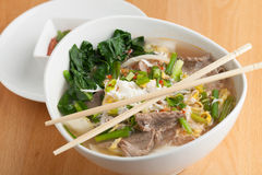 Pho Style Soup with Beef Stock Photography