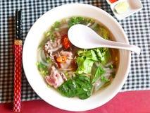 Pho, tagliatelle del manzo, cucina vietnamita Fotografia Stock Libera da Diritti