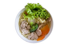 Pho. Traditional Vietnamese Pho  Noodle Soup isolate on white Stock Images