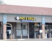 Pho und Grill-vietnamesische Küche, Fort Worth, Texas stockfotografie