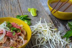 Pho Vietnamese beef soup Royalty Free Stock Images