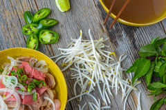 Pho Vietnamese beef soup Royalty Free Stock Photos