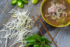 Pho Vietnamese beef soup Stock Photography