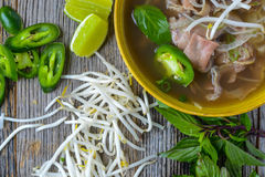 Pho Vietnamese beef soup Stock Photos