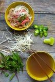 Pho Vietnamese beef soup Stock Photo
