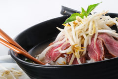 Pho - Vietnamese Rare Beef noodle soup Royalty Free Stock Photography