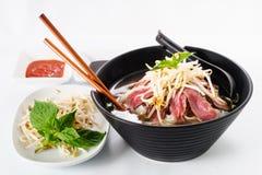 Pho - Vietnamese Rare Beef noodle soup Stock Photo