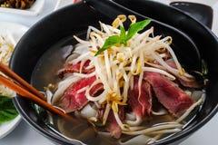 Pho - Vietnamese Rare Beef noodle soup Stock Images