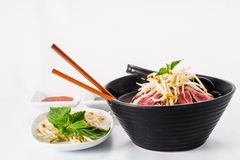 Pho - Vietnamese Rare Beef noodle soup Stock Photo