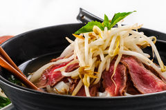 Pho - Vietnamese Rare Beef noodle soup Stock Photography