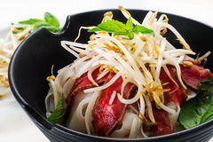 Pho - Vietnamese Rare Beef noodle soup Royalty Free Stock Image