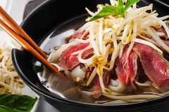 Pho - Vietnamese Rare Beef noodle soup Royalty Free Stock Photo