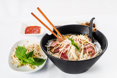 Pho - Vietnamese Rare Beef noodle soup Royalty Free Stock Images