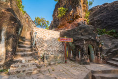 Pho Win Taung Cave in Monywa Royalty Free Stock Images