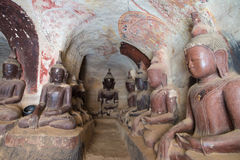 Pho Win Taung Caves Stock Photography
