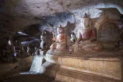 Pho Win Taung Caves Stock Image
