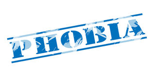 Phobia blue stamp Stock Images
