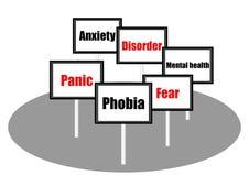 Phobia concept illustration Stock Photography