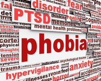 Phobia message conceptual design. Anxiety disorder icon conceptual design Royalty Free Stock Photography