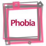Phobia Pink Grey Frame Stock Photo