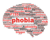 Phobia symbol conceptual design isolated on white. Anxiety disorder icon conceptual design royalty free illustration