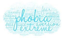 Phobia Word Cloud Royalty Free Stock Photos