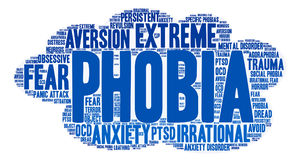 Phobia Word Cloud Royalty Free Stock Photography
