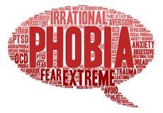 Phobia Word Cloud Stock Photo