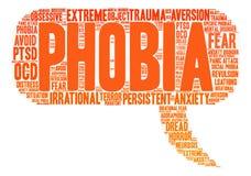 Phobia Word Cloud Stock Photography