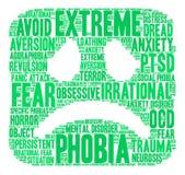 Phobia Word Cloud Royalty Free Stock Photo