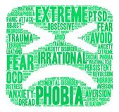 Phobia Word Cloud Royalty Free Stock Images