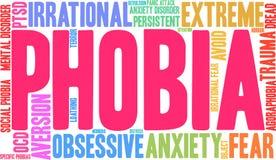 Phobia Word Cloud Stock Photos