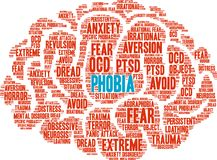 Phobia Word Cloud Stock Image