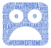 Phobia Word Cloud Stock Images