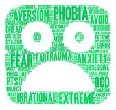 Phobia Word Cloud Royalty Free Stock Image