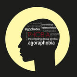 Phobias. Vector illustration. Royalty Free Stock Photo