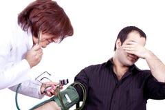 Phobie de docteur   Photographie stock libre de droits